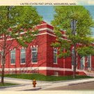 United States Post Office in Middleboro Massachusetts MA, Linen Postcard - 2834