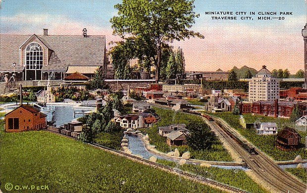 Miniature City at Clinch Park in Traverse City Michigan MI, Postcard - 2852