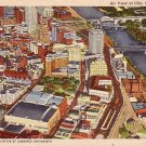 Air View of St. Paul Minnesota MN, 1943 Curt Teich Linen Postcard - 2857