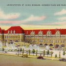 Union Station in St. Louis Missouri MO, Mid Century Linen Postcard - 2874