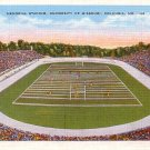Memorial Stadium at the University of Missouri in Columbia Missouri MO, Linen Postcard - 2889