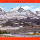 East Entrance to Glacier National Park in Montana MT, Linen Postcard - 2892