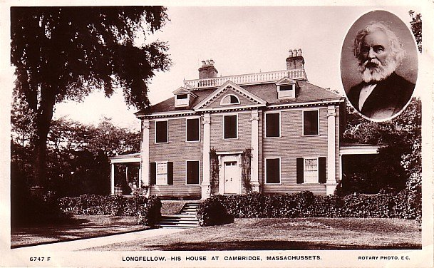 Longfellow Home at Cambridge Massachusetts MA, Rotary Photo Vintage Postcard - 2905
