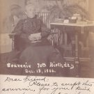 Mrs. Harriet M. Sweet 70th Birthday Souvenir, 1906 Real Photo Post Card RPPC - 2949