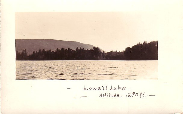 Lowell Lake at Londonderry Vermont VT, Real Photo Post Card RPPC - 2954