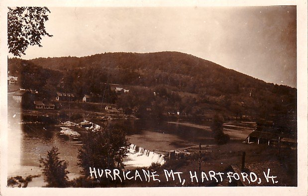 Hurricane Mountain in Hartford Vermont VT, Real Photo Post Card RPPC - 2956