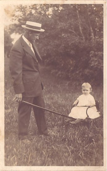 John Sears and his Daughter Evelyn, Real Photo Post Card RPPC - 2958