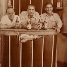 Three Jolly Fellows Standing Behind a Bar, Real Photo Post Card RPPC - 2960