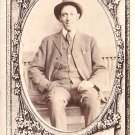 Portrait of Gentleman with Elaborate Printed Border, Real Photo Post Card RPPC - 2965