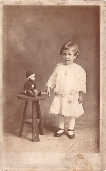 Miss Gladys Steel of Ohio with Her Doll, Real Photo Post Card RPPC - 2969