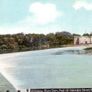 Chemung River Dam at Elmira New York NY Vintage Postcard - 2977