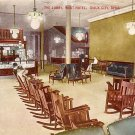Lobby of West Hotel at Sioux City Iowa IA, Vintage Postcard - 2981
