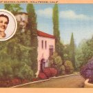 Home of Deanna Durbin in Hollywood California CA, Linen Postcard - 2990