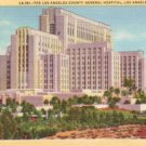 Los Angeles County General Hospital in California CA, 1933 Curt Teich Postcard - 3077