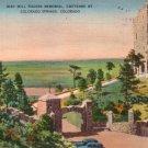 Will Rogers Memorial on Cheyenne Mountain in Colorado Springs Colorado CO Linen Postcard - 3084