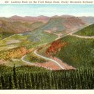 Trail Ridge Road at Rocky Mountain National Park in Colorado CO, Curt Teich Linen Postcard - 3096