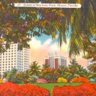 Bayfront Park in Miami Florida FL, 1951 Linen Postcard - 3106