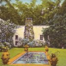 Thomas A Edison Memory Garden in Fort Myers Florida FL, 1948 Curt Teich Postcard - 3112