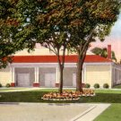 Tourist Club Auditorium in Bradenton Florida FL, 1949 Linen Postcard - 3122