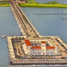 Million Dollar Pier at St Petersburg Florida FL, 1940 Linen Postcard - 3133