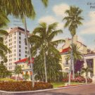 Whitehall Hotel in Palm Beach Florida FL, 1946 Curt Teich Linen Postcard - 3143
