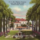 Widener Fountain at the Hialeah Race Course in Miami Florida FL, Curt Teich Linen Postcard - 3149