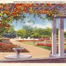 Sunken Garden from Pergola at Humboldt Park in Chicago Illinois IL, 1933 Curt Teich Postcard - 3168
