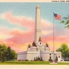 Lincoln Tomb at Springfield Illinois IL, 1934 Curt Teich Linen Postcard - 3170