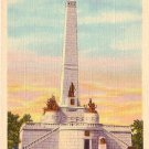 Lincoln Tomb at Springfield Illinois IL, 1931 Curt Teich Linen Postcard - 3171
