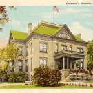 Governor's Mansion in Springfield Illinois IL, Curt Teich Linen Postcard - 3176