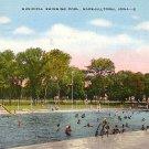 Municipal Swimming Pool at Marshalltown Iowa IA, 1945 Linen Postcard - 3190