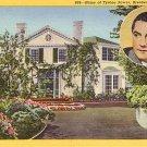 House of Tyronne Power in Brentwood California CA, 1940 Curt Teich Linen Postcard - 3194