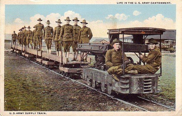 U.S. Army Supply Train WWI, Curt Teich Vintage Postcard - 3196