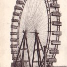 The Grande Ferris Wheel in Paris France, Vintage Postcard - 3210