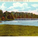 Echo Lake Bathing Beach in Warrensburgh New York NY, Vintage Postcard - 3228