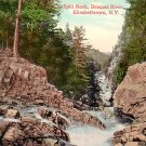 Split Rock and Bouquet River at Elizabethtown New York NY, Vintage Postcard - 3232
