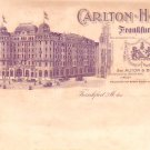Carlton Hotel at Frankfurt Germany, Vintage Postcard - 3236