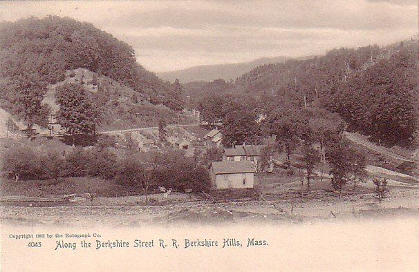 Berkshire Street R.R. at Berkshire Hills Massachusetts MA, 1905 Rotograph Co. Postcard - 3267