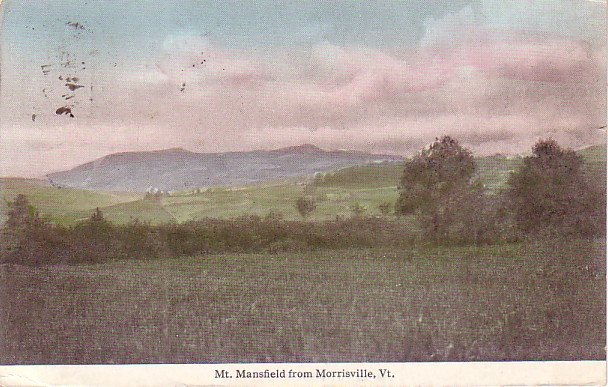 Mt. Mansfield from Morrisville Vermont VT, Vintage Postcard - 3278