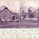 Chapel and T.C.A. Gymnasium at Poultney Vermont VT, 1919 Vintage Postcard - 3280