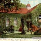Ivy Covered St. Paul's Church in Norfolk Virginia VA, 1909 Vintage Postcard - 3281