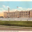 Lehman High School and Athletic Field at Canton Ohio OH, Linen Postcard - 3288