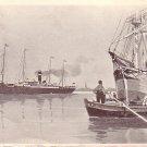 Red Star Line from Antwerpen, 1910 Vintage Postcard - 3345