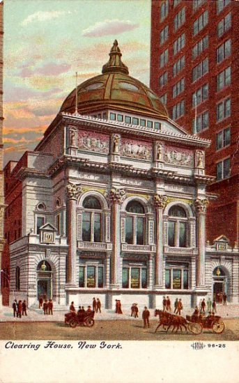 The Clearing House in New York City NY, Vintage Postcard - 3365