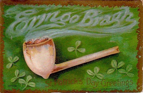 Erin Go Bragh, 1908 St. Patrick's Day Vintage Postcard - 3375