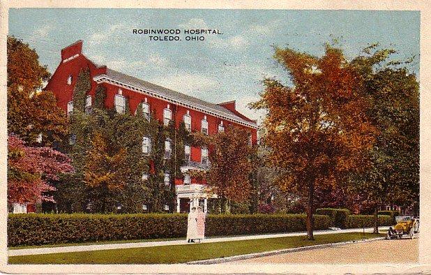 Robinwood Hospital in Toledo Ohio OH, 1919 Vintage Postcard - 3389