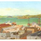 San Francisco Bay from North Beach at California CA, Vintage Postcard - 3411