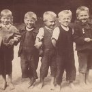 Barefoot Boys, Real Photo Post Card RPPC - 3420