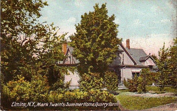 Quarry Farm, Summer Home of Mark Twain at Elmira New York NY, 1907 Vintage Postcard - 3423