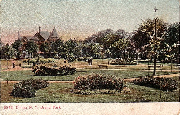 Brand Park at Elmira New York NY, PCK Vintage Postcard - 3427